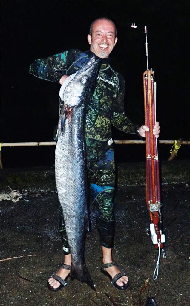 Marco Mainardi pesca in apnea